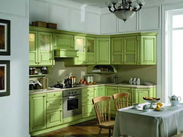 Zastosowanie jasnozielonych frontów w kuchni