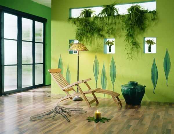 Odcienie zieleni dobrze komponują się ze stylem ekologicznym