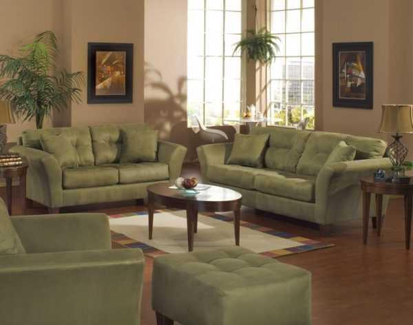 Oliwkowe sofy i fotele