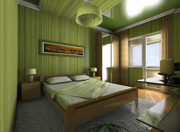 Sypialnia w odcieniach oliwek