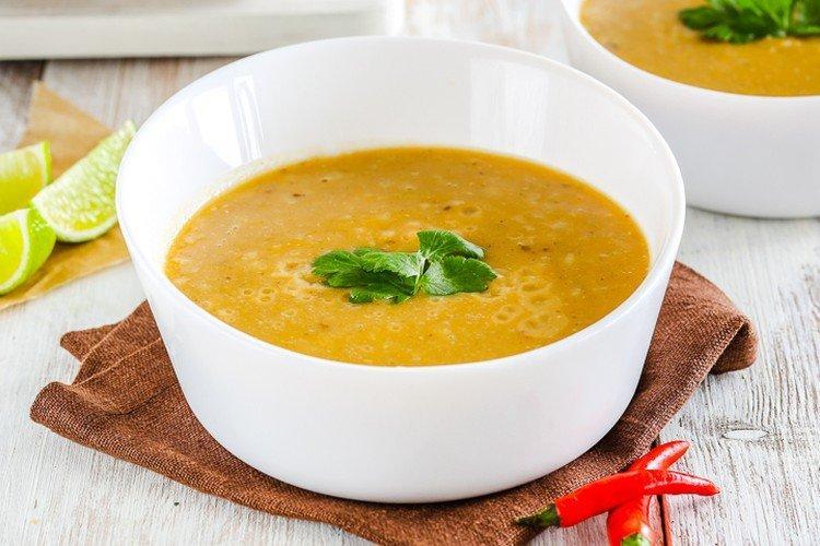 Zupa z soczewicy z ryżem