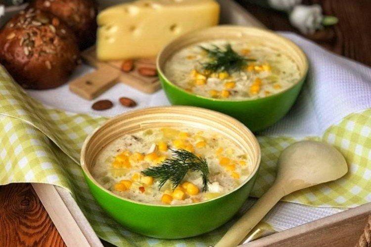 Kremowa zupa kukurydziana