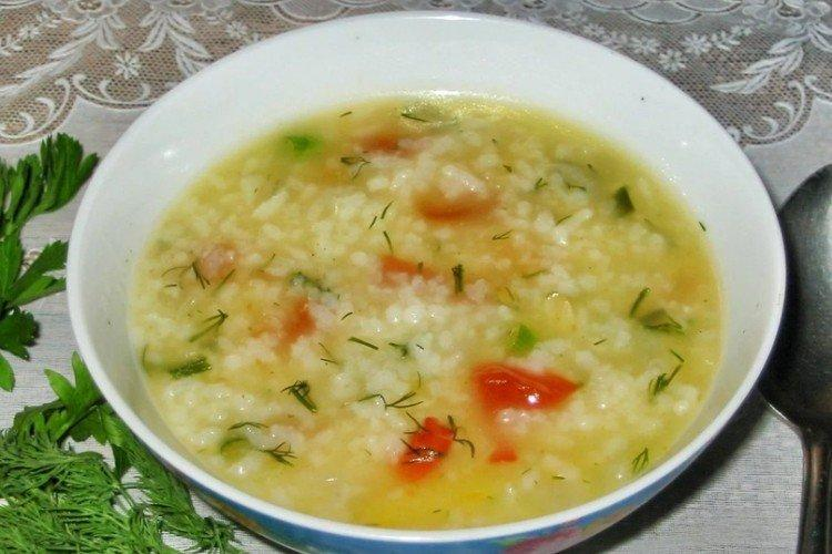 Zupa jarzynowa z ryżem
