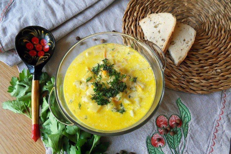 Zupa serowa bez mięsa