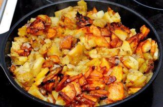 Smażone ziemniaki z czosnkiem