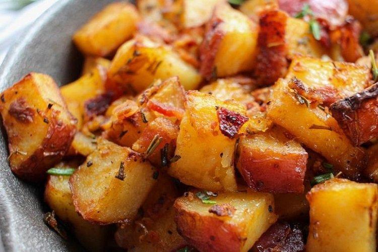 Smażone ziemniaki na smalcu